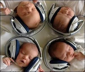 Cukik, zenére alszanak